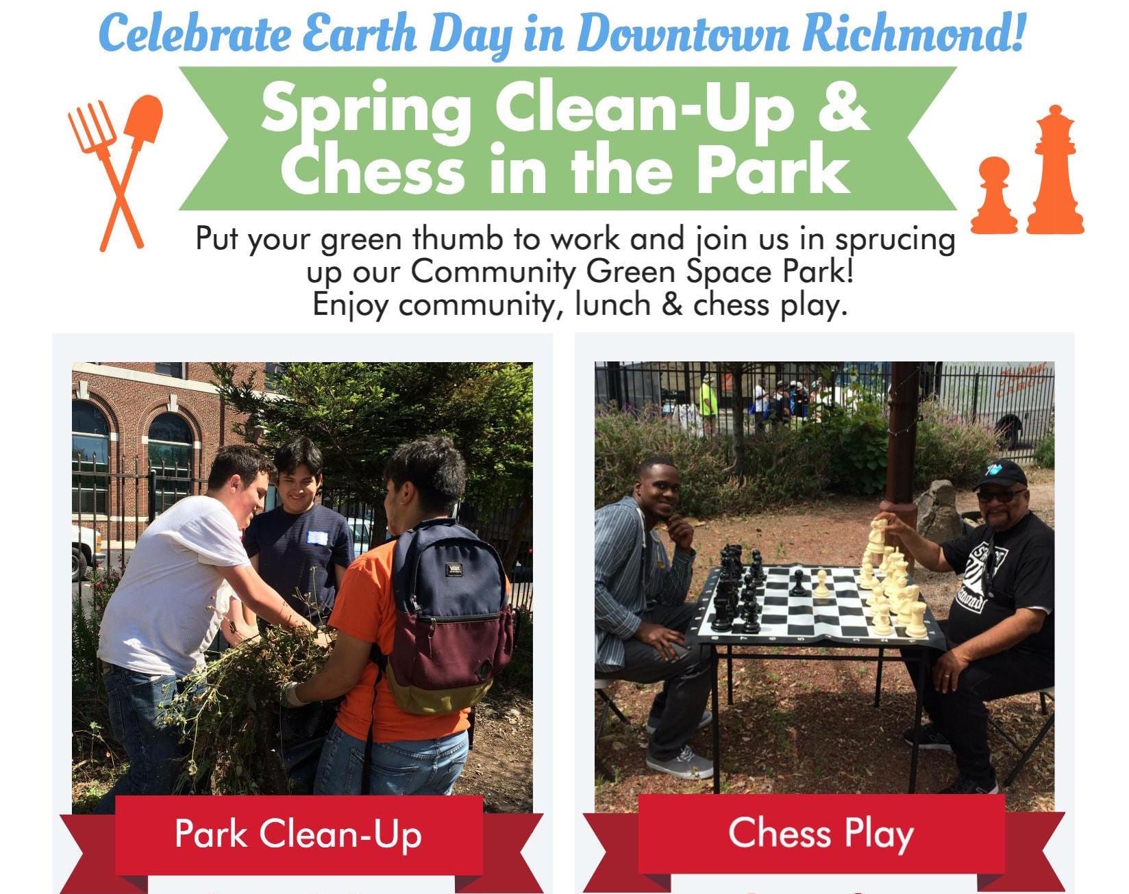New Collaborative Group to Host First Event in Downtown Richmond to Celebrate Earth Day & Play Chess
