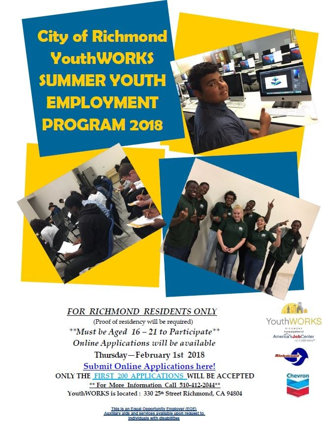 YouthWORKS 2018 Summer Youth Employment Program ~ Accepting