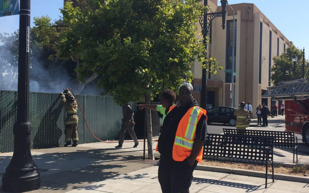 Neighborhood Ambassadors respond to fire in Downtown Richmond
