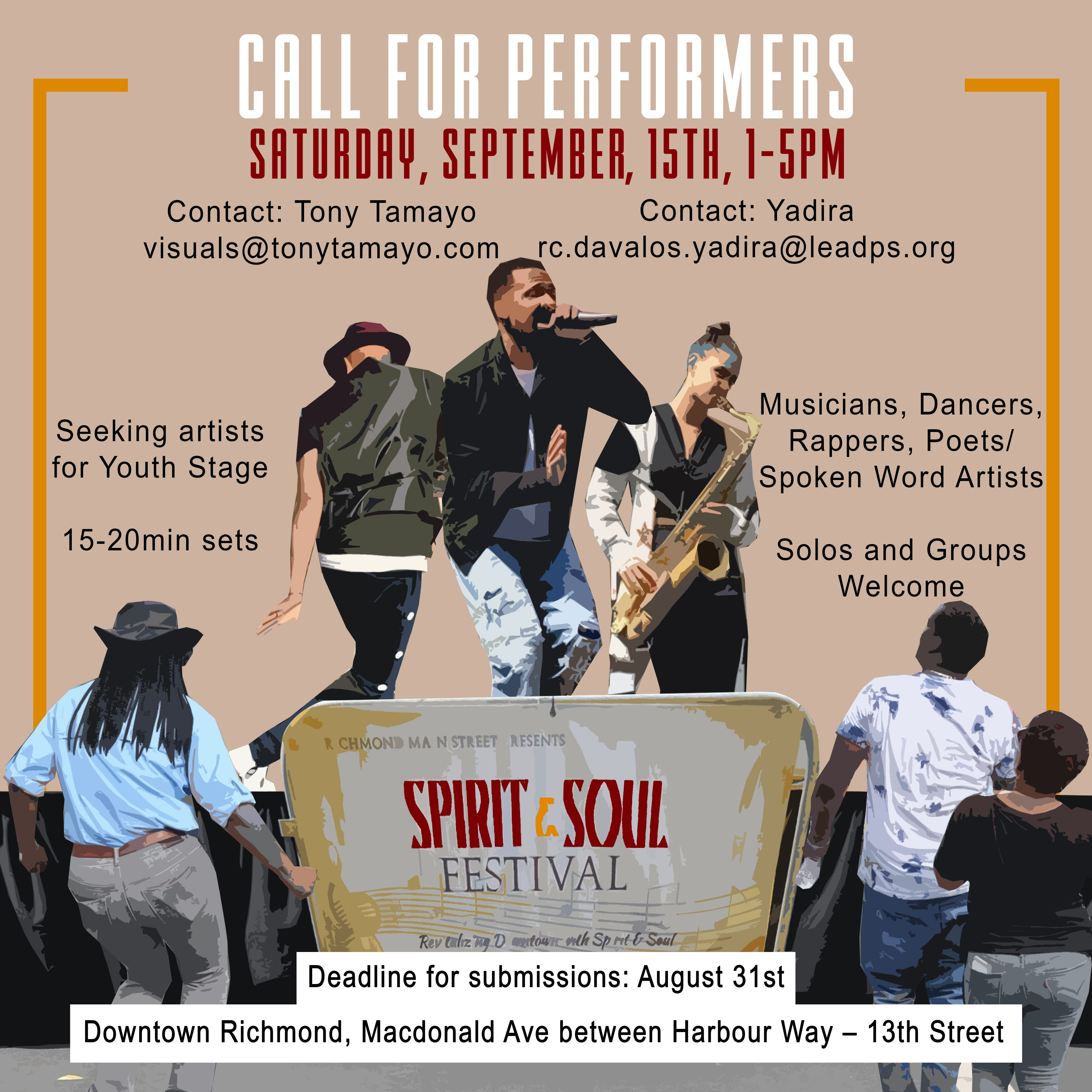 Call for Performers Spirit & Soul Festival 2018 graphic