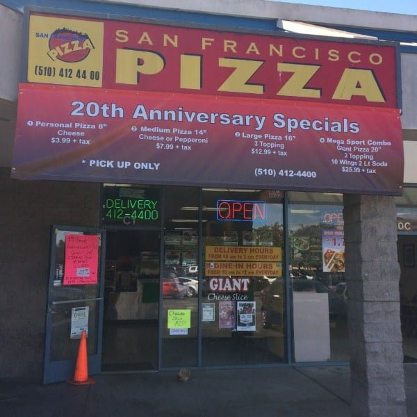 Downtown Happenings: San Francisco Pizza 20th Anniversary Specials