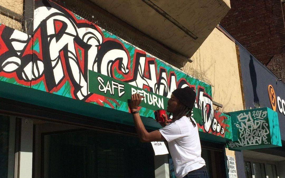 Local Artist Creates Unique Sign for Downtown Business
