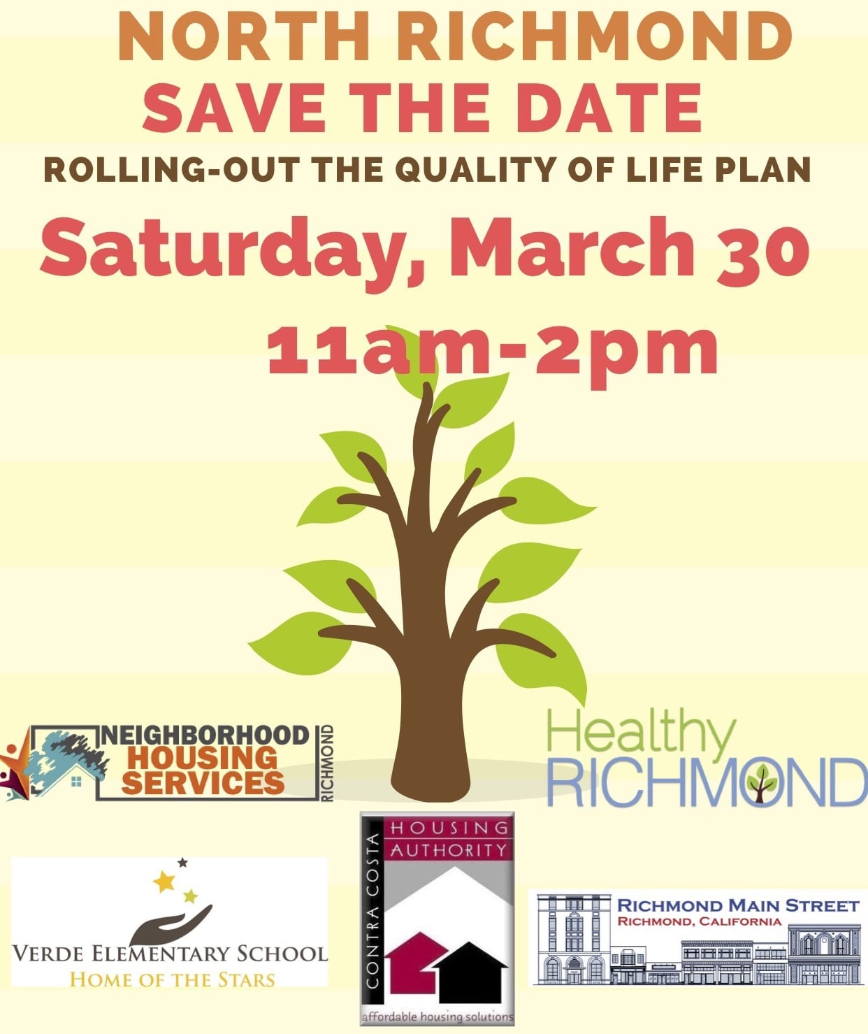 Save the Date: North Richmond Quality of Life Plan Roll-out