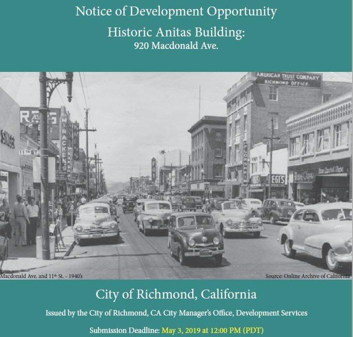 Notice of Development Opportunity: Historic Anitas Building