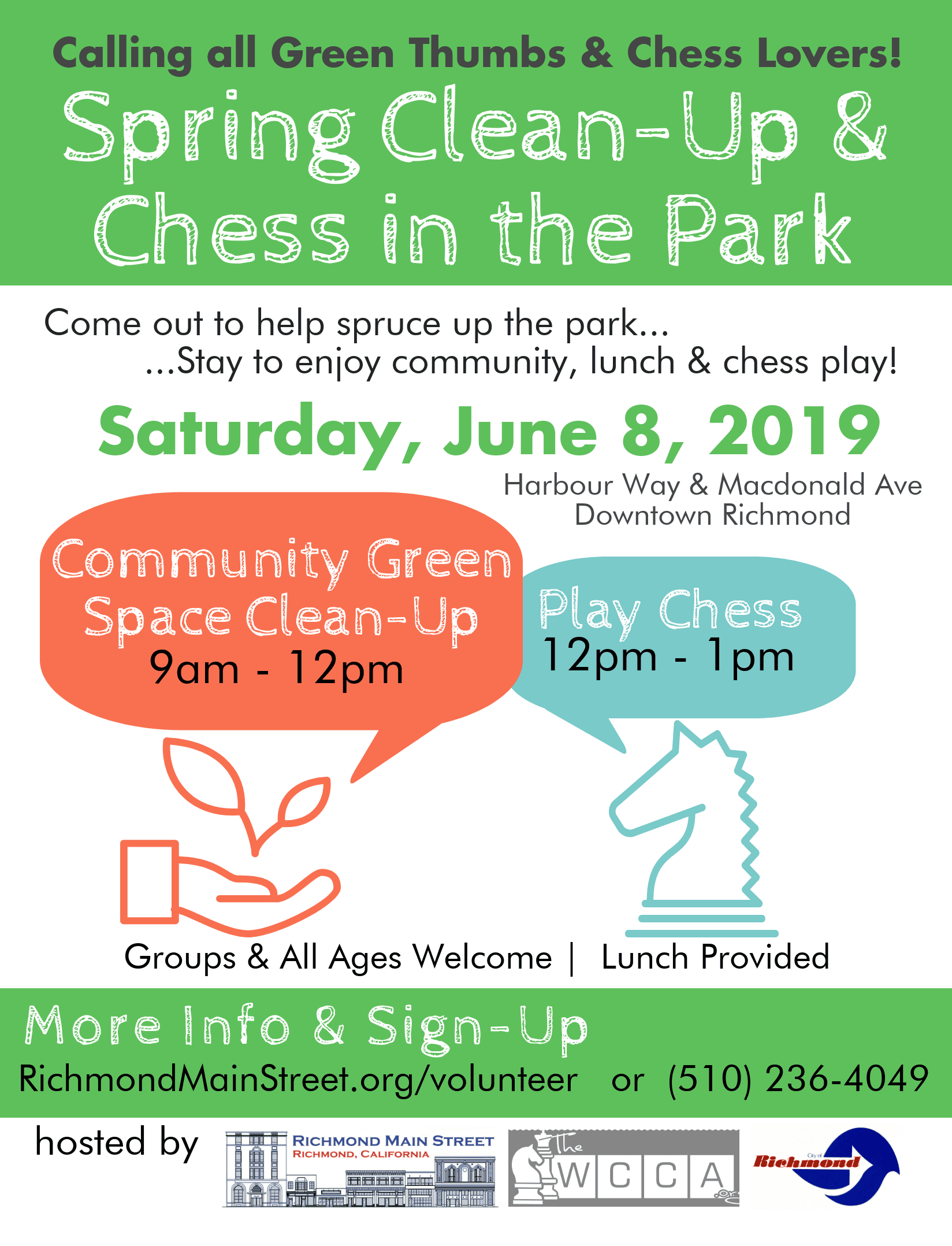 Media Alert: 3rd Annual Spring Clean-Up & Chess in the Park
