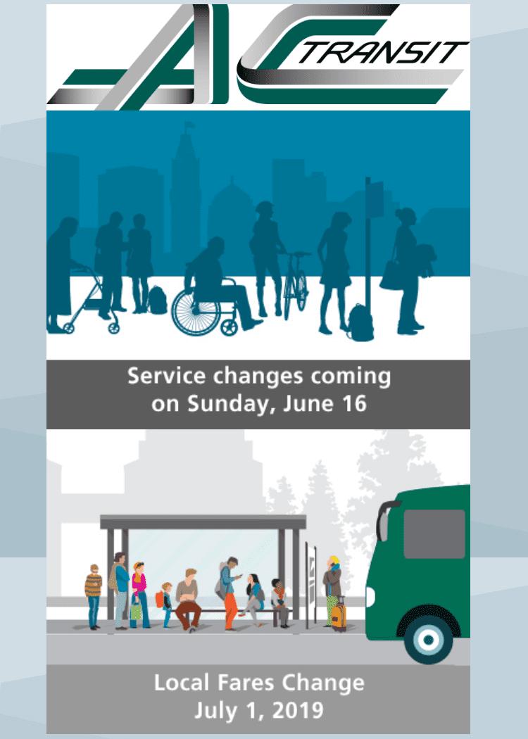 AC Transit Announces Route & Fare Changes
