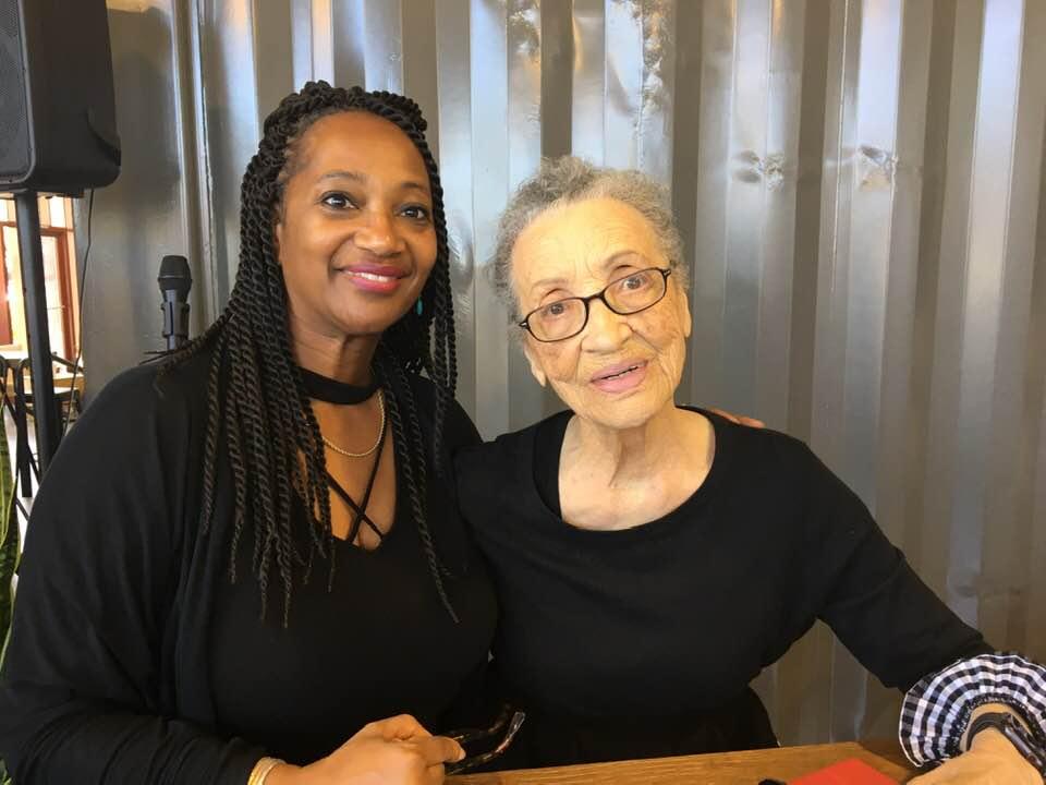 Richmond Main Street Executive Director Amanda Elliott (left) with activist and author Betty Reid Soskin (right)