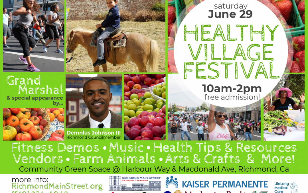 Media Alert: Summer in Downtown Richmond Starts with Healthy Village Festival Featuring Grand Marshal Demnlus Johnson III