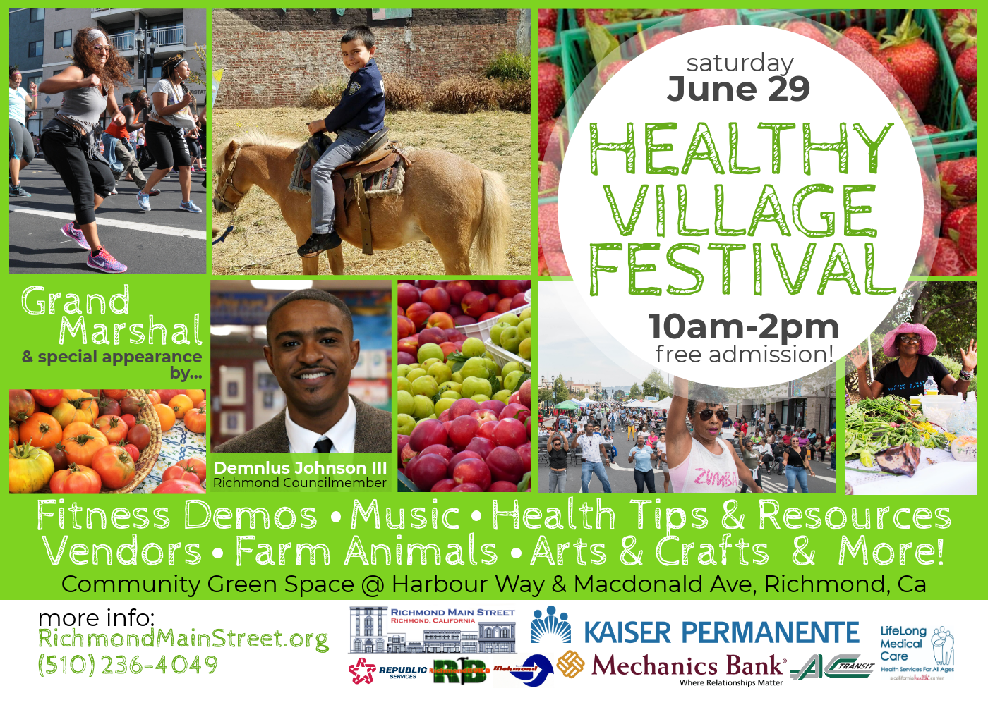 Media Alert: Summer in Downtown Richmond Starts with Healthy Village Festival Featuring Grand Marshal Demnlus Johnson III