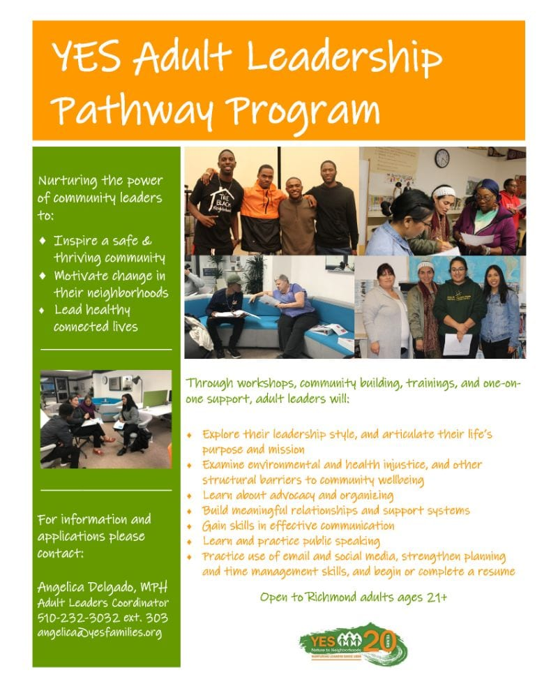 Apply to YES Adult Leadership Pathway Program 2019