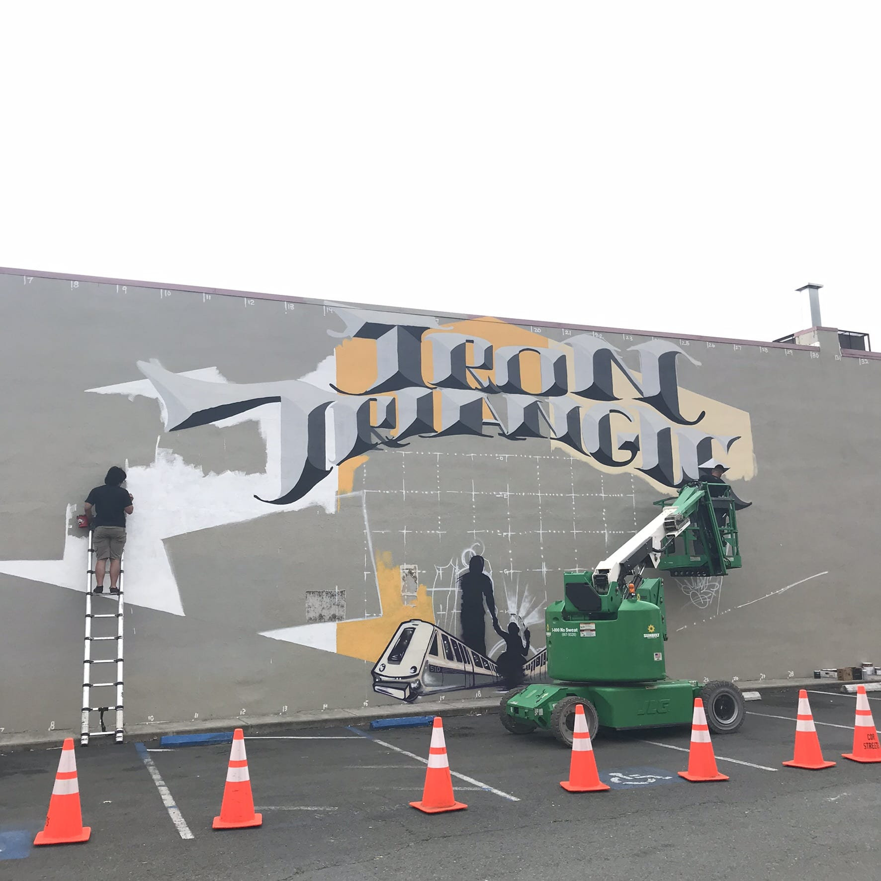 "New ""Iron Triangle"" Mural in the Works Downtown"