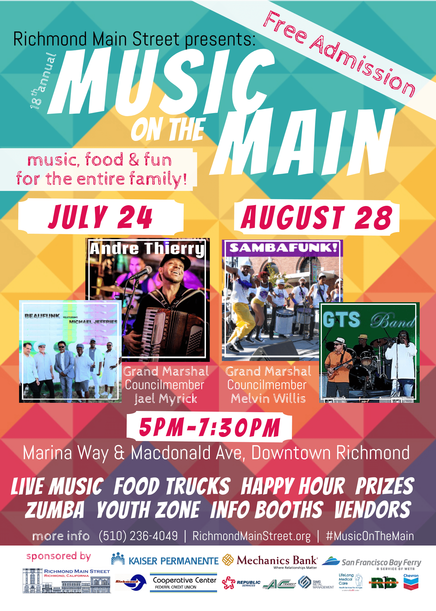 "Media Alert: Richmond Main Street Continues Celebrate Downtown & Kicks Off a ""Salute to Soul 2.0"" with 18th annual Music on the Main Summer Concerts"