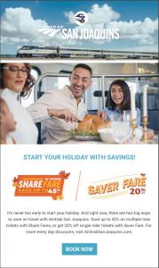 Amtrak San Joaquins Nov2019 ShareFare flyer