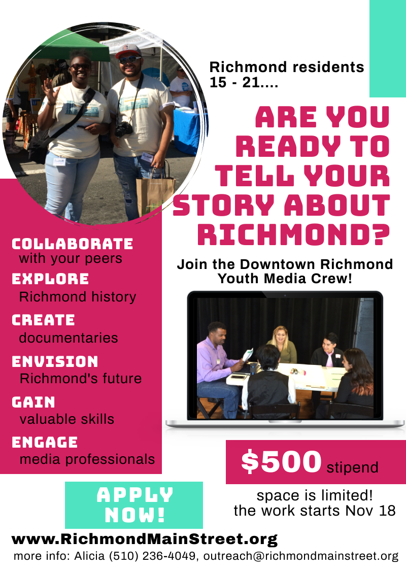 Join the Downtown Richmond Youth Media Crew
