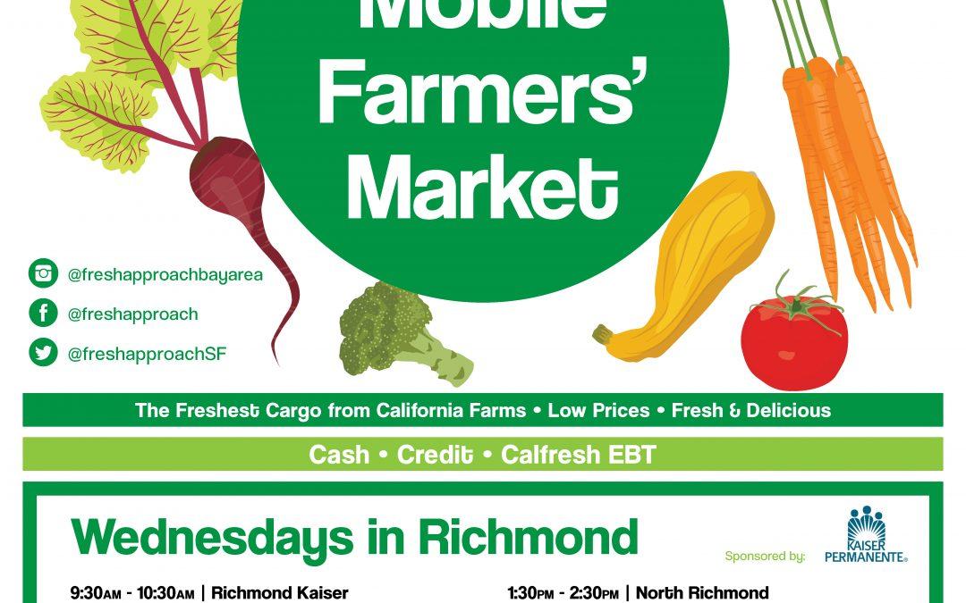Mobile Farmers' Market Richmond Route Returns for 2020 Season Feb 19!
