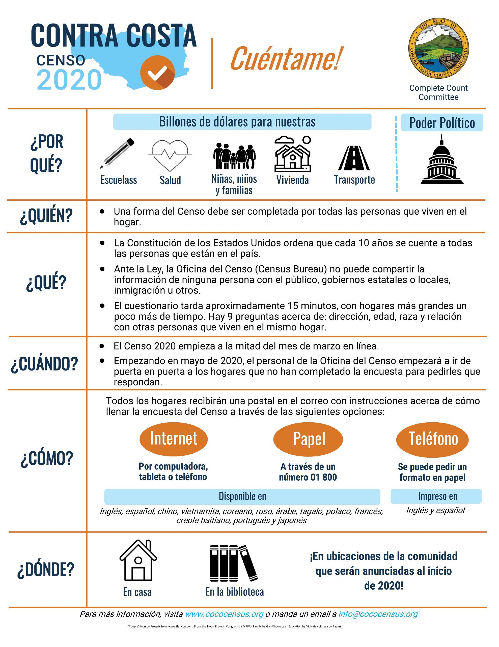 Census 2020 Factsheet Spanish 1-2020