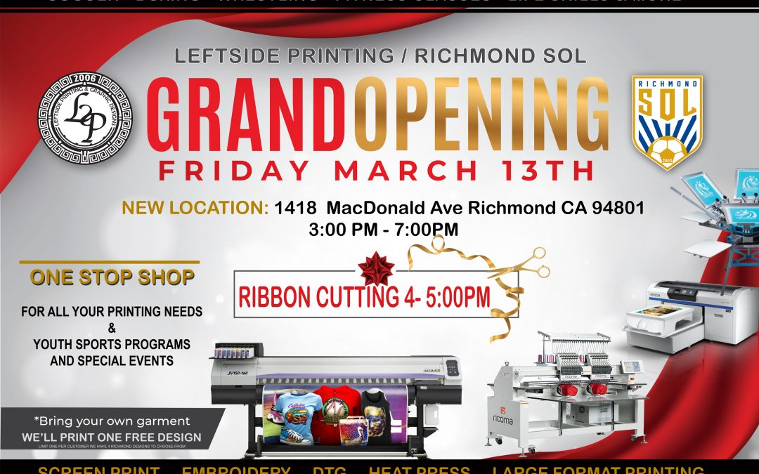 Media Alert: Leftside Printing / Richmond SOL Grand Opening & Ribbon Cutting Ceremony
