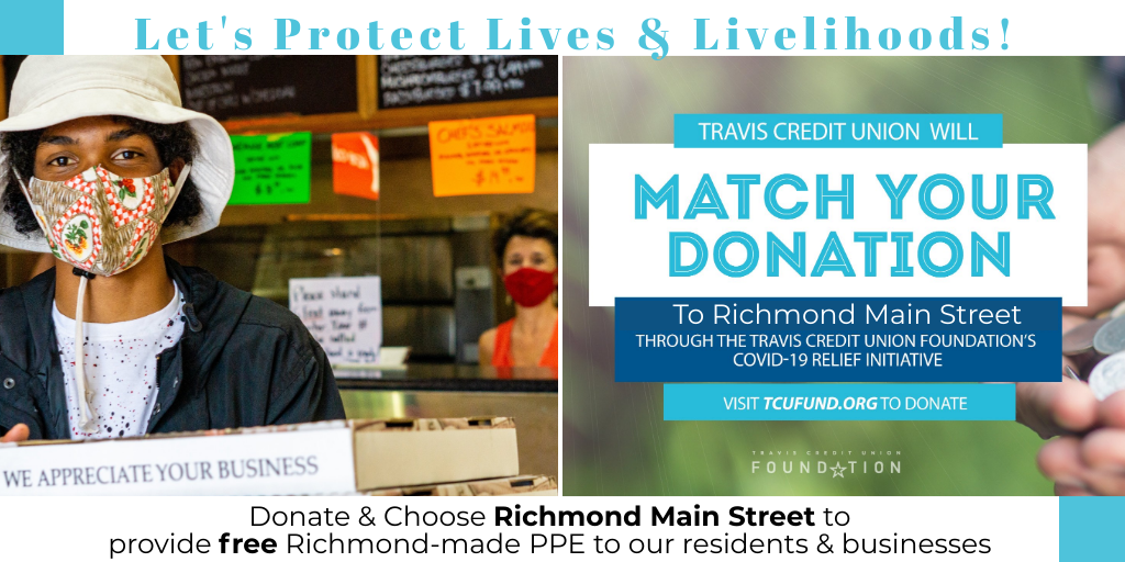 Media Alert: Richmond Main Street Initiative & Travis Credit Union Foundation Fundraiser Protecting Local Lives & Livelihoods
