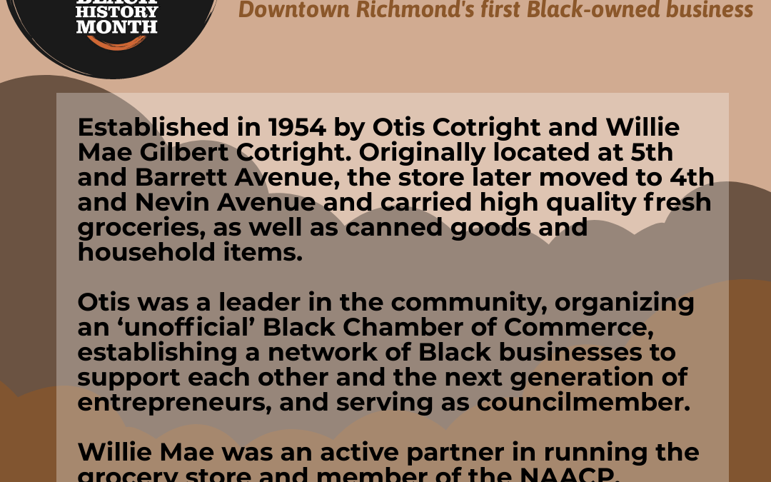 Cotright Grocery: Downtown Richmond's First Black-owned Business